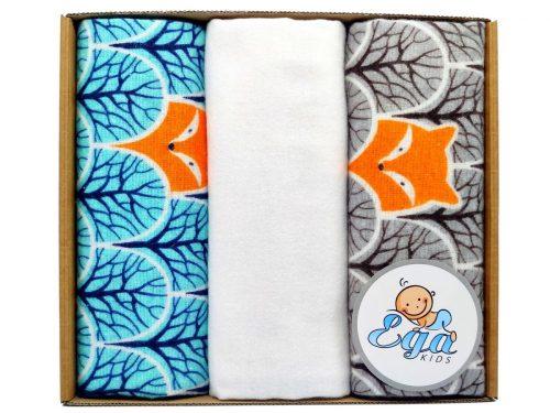 Zestaw pieluszek flanelowych 70x80 dla niemowląt mix 3 szt pudełko