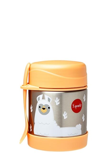 Termos obiadowy dla dzieci Lama pomarańczowy 350ml 12m+ 3 sprouts