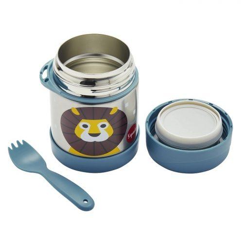 Termos obiadowy dla dzieci Lew niebieski 350ml 12m+ 3 sprouts