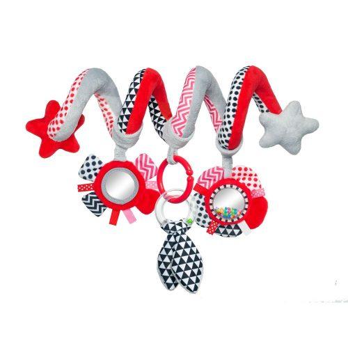 Pluszowa spirala do łóżeczka  fotelika różowa Zigrag Canpol Babies