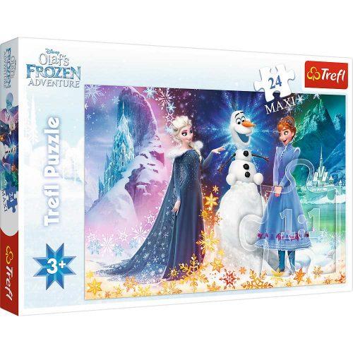 Trefl Puzzle maxi 24el. Frozen w świetle gwiazd