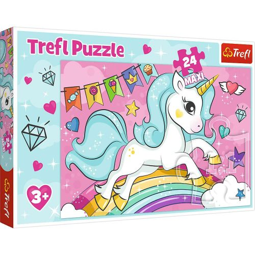 Trefl Puzzle maxi 24el. Słodki jednorożec