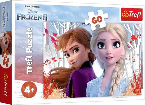 Trefl Puzzle 60el. Frozen zaczaorowany świat Anny i Elsy