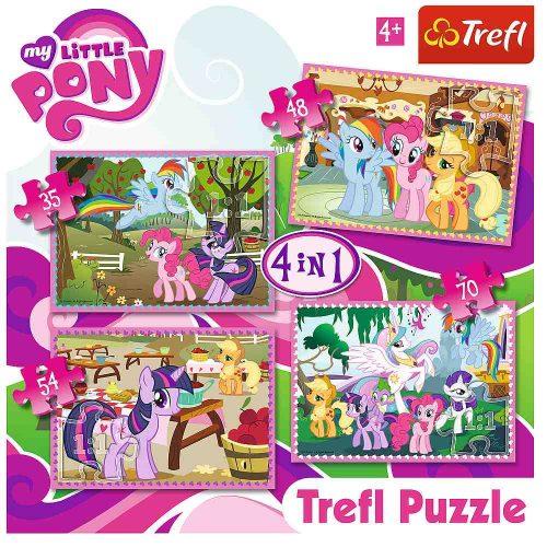 Trefl Puzzle 4w1 35 48 54 70 el.  Wakacje kucyków