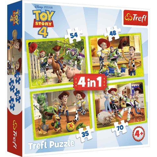 Trefl Puzzle 4w1 35 48 54 70 el. Toy Story 4 Ekipa Zabawkowa