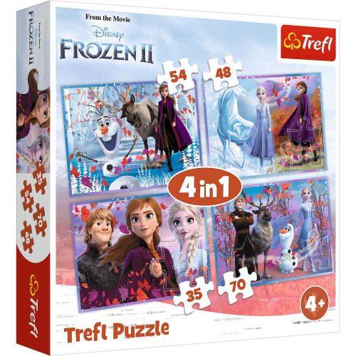 Trefl Puzzle 4w1 35 48 54 70 el. Frozen 2 podróż w nieznane