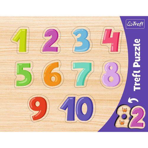 Trefl Puzzle ramkowe układanki kształtowe Cyferki