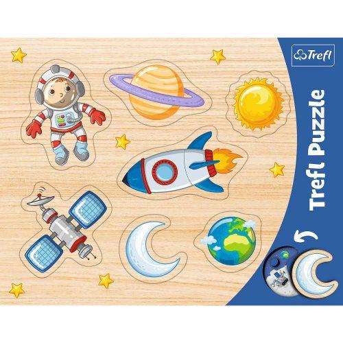 Trefl Puzzle ramkowe układanki kształtowe Kosmos