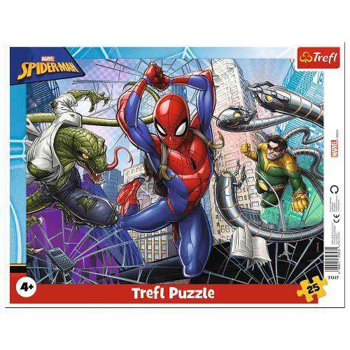 Trefl Puzzle ramkowe 25 el Odważny Spiderman