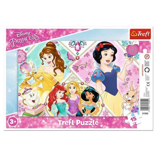 Trefl Puzzle ramkowe 15el. Urocze księżniczki