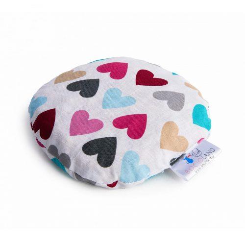 Termofor z pestek wiśni dla niemowląt antykolkowy 180g serca kolorowe