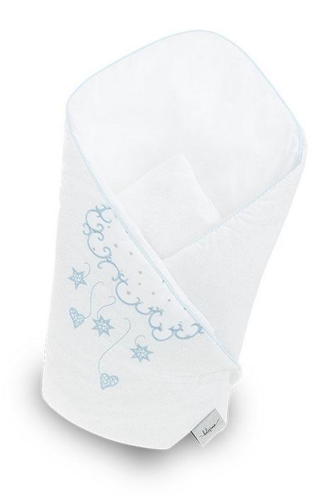 Becik rożek niemowlęcy usztywniany niebieski aniołek Belisima
