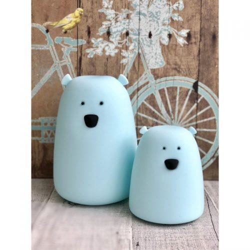 Lampka nocna led silikonowa Miś duży biały Rabbit&Friends