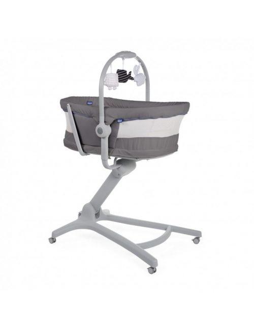 Baby Hug 4w1 AirChicco łożeczko krzesełko leżaczek  Dark Grey