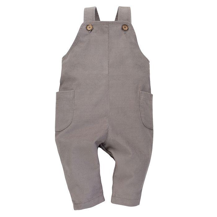 Pinokio spodnie ogrodniczki dla dziecka Dreamer 80 szary