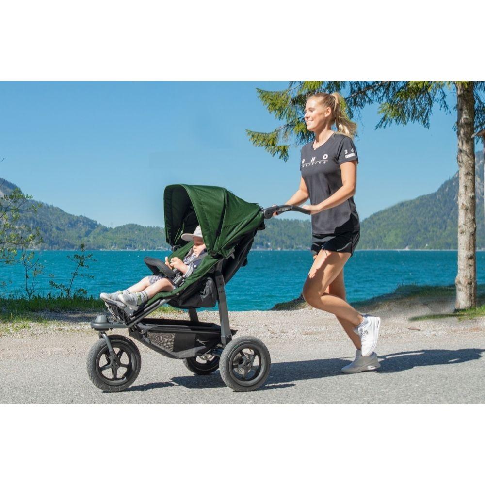 TFK Sport wózek spacerowy do joggingu na pompowanych kołach kolor Szary