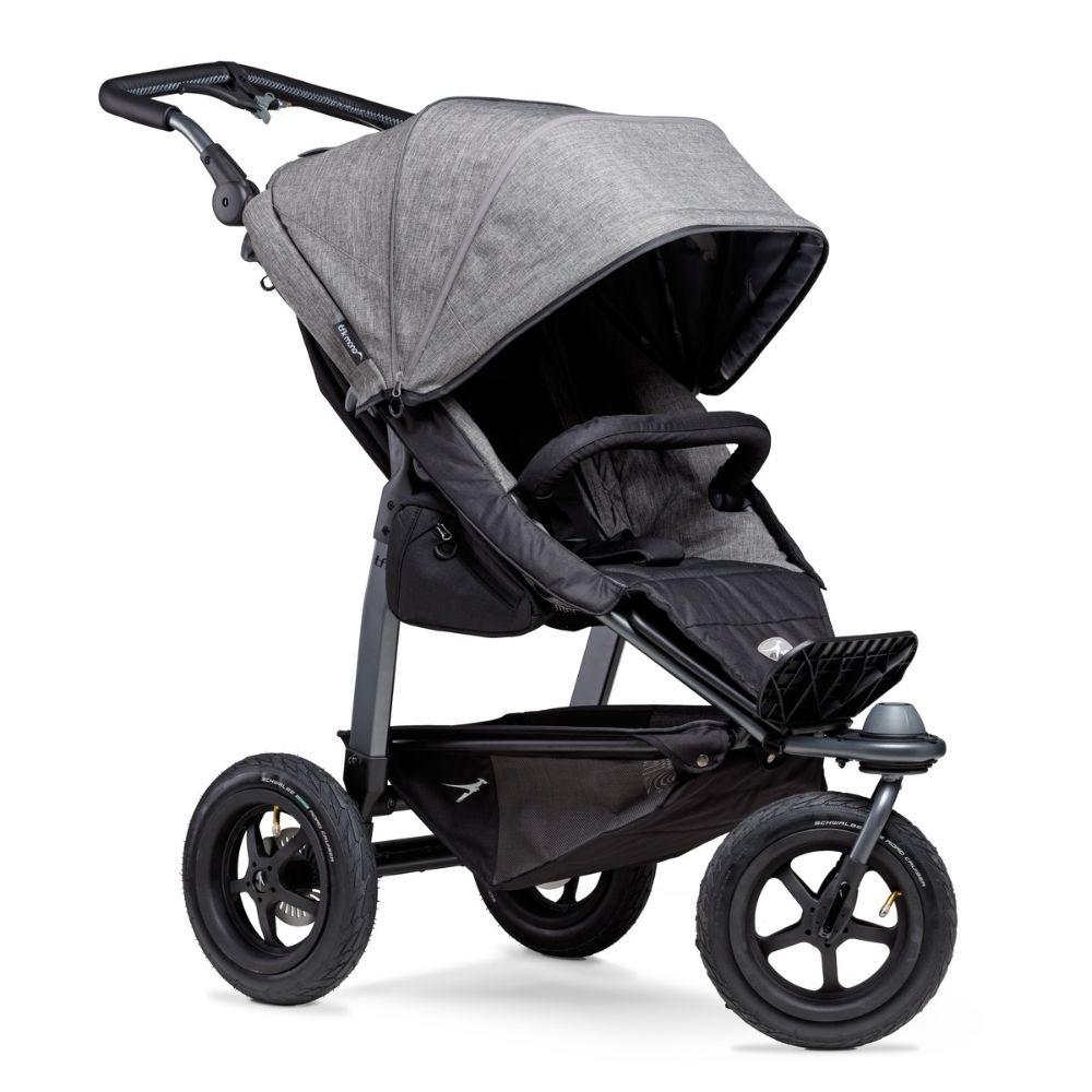 Wózek spacerowy na pompowanych kołach TFK Sport kolor Szary Premium