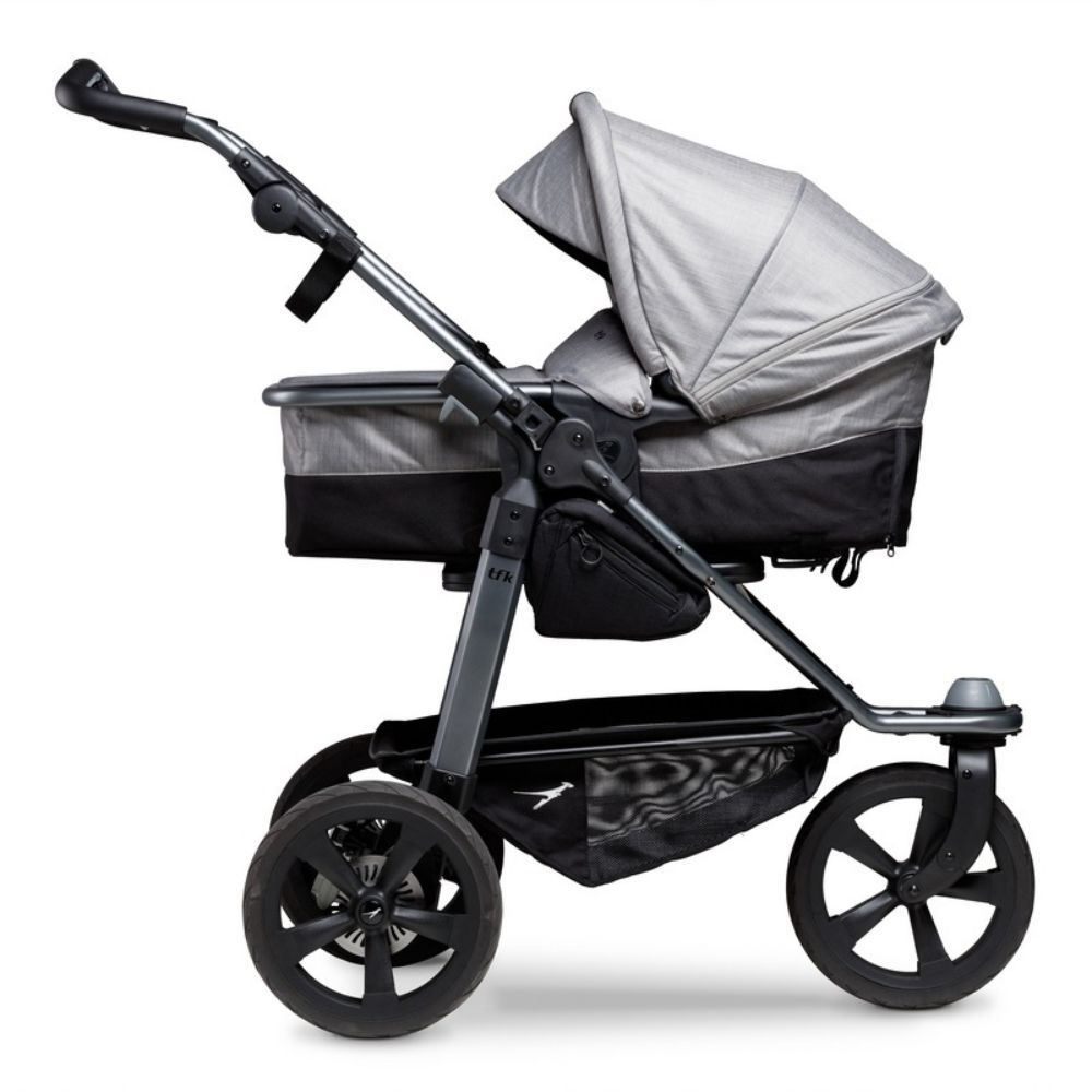 TFK biegowy wózek głęboko spacerowy Mono Combi zestaw 2w1 koła komorowe kolor Szary