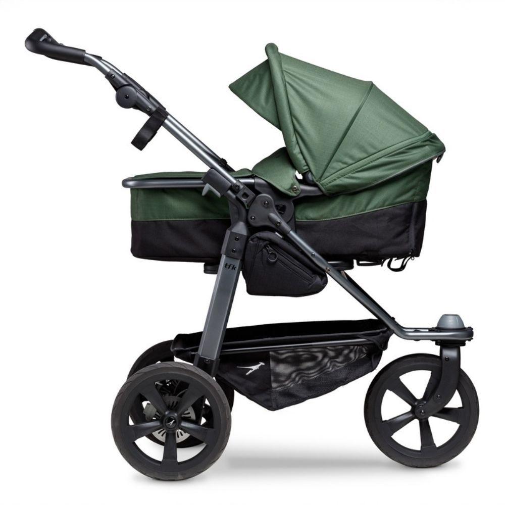 TFK biegowy wózek głęboko spacerowy Mono Combi zestaw 2w1 koła komorowe kolor Zielony