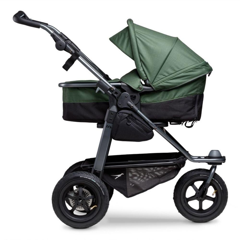 TFK biegowy wózek głęboko spacerowy Mono Combi zestaw 2w1 koła pompowane kolor Zielony