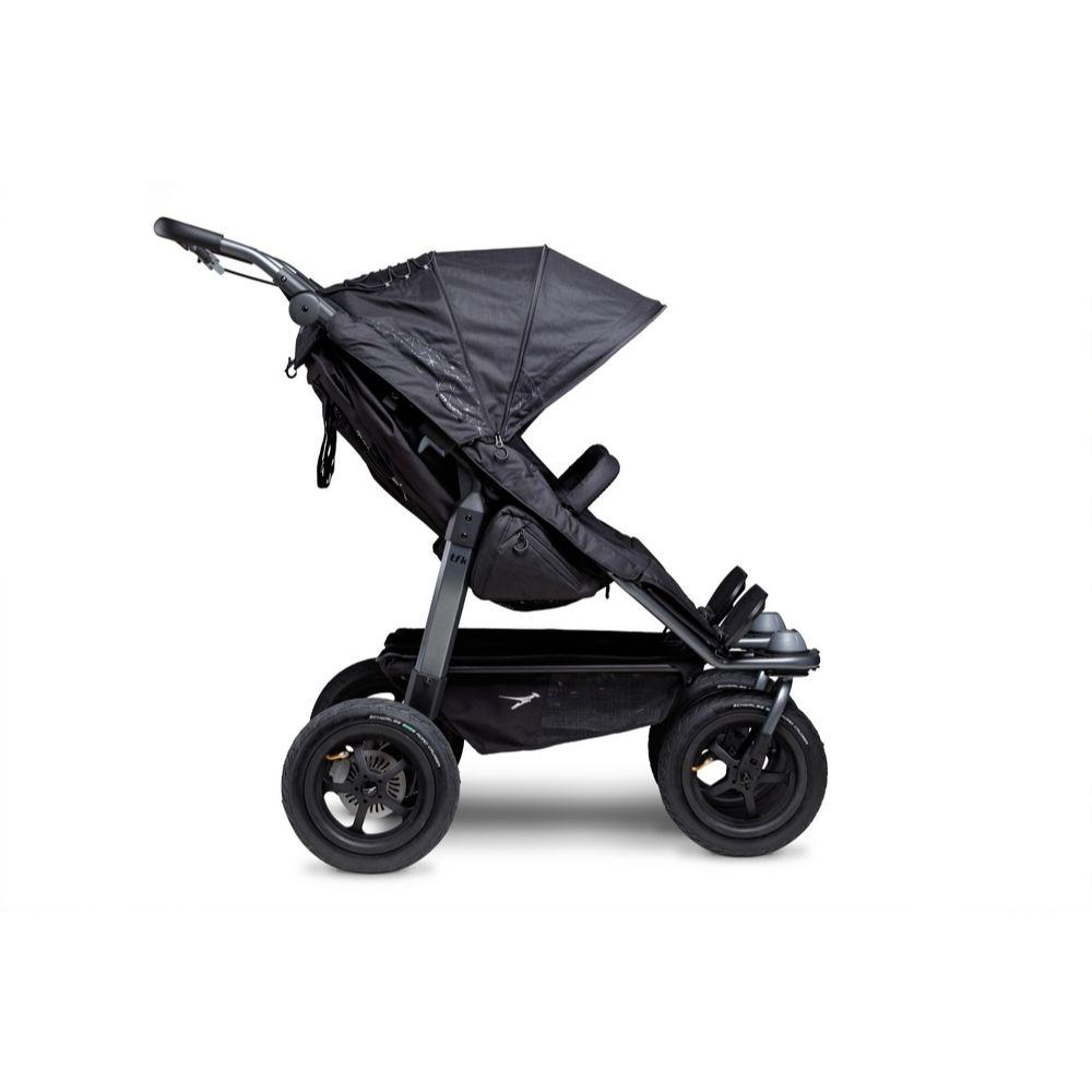 Bliźniaczy wózek spacerowy TFK Duo Sport koła pompowane kolor Czarny