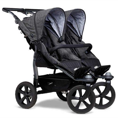TFK Duo Sport bliźniaczy wózek spacerowy koła pompowane kolor Antracite Premium