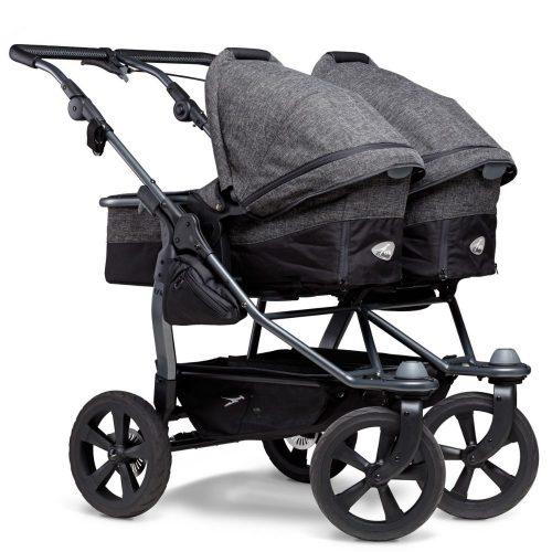 TFK Duo Combi bliźniaczy wózek głęboko spacerowy zestaw 2w1 koła komorowe kolor Antracite Premium