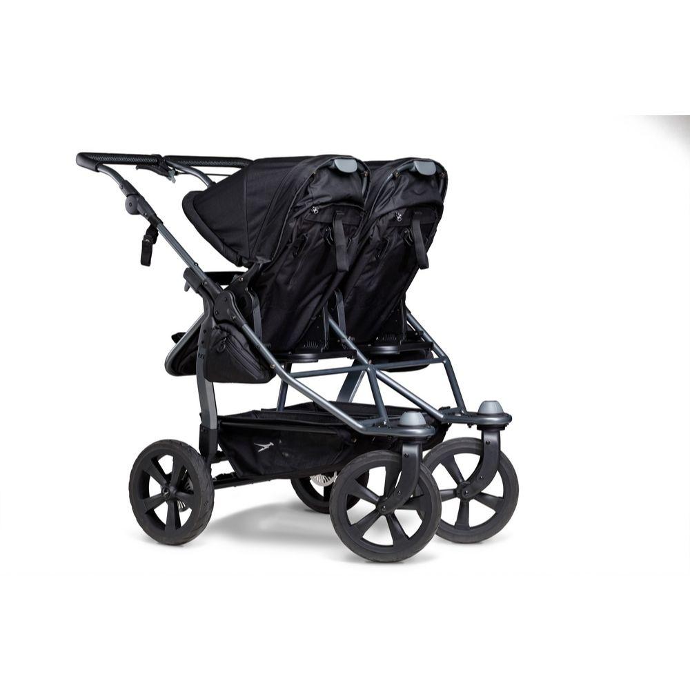 Blźniaczy wózek głęboko spacerowy TFK Duo Combi koła komorowe zestaw 2w1 kolor Czarny