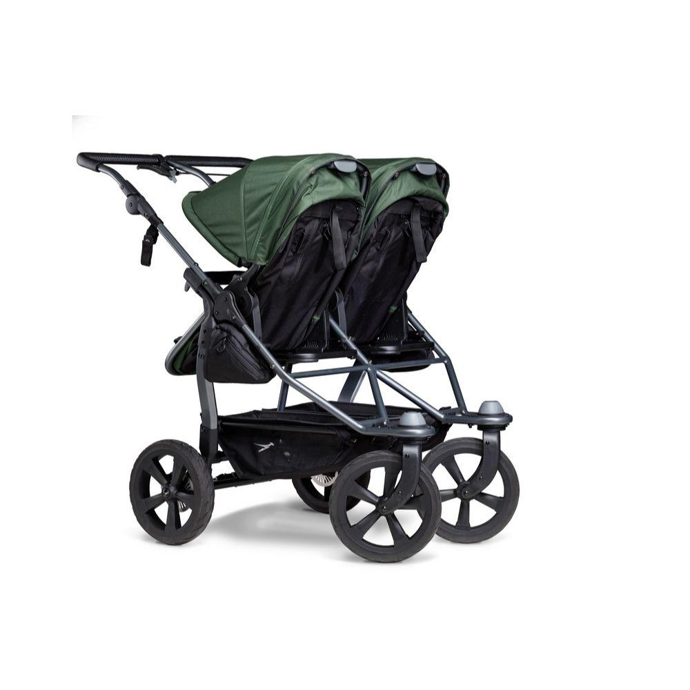 Blźniaczy wózek głęboko spacerowy TFK Duo Combi koła komorowe zestaw 2w1 kolor Zielony