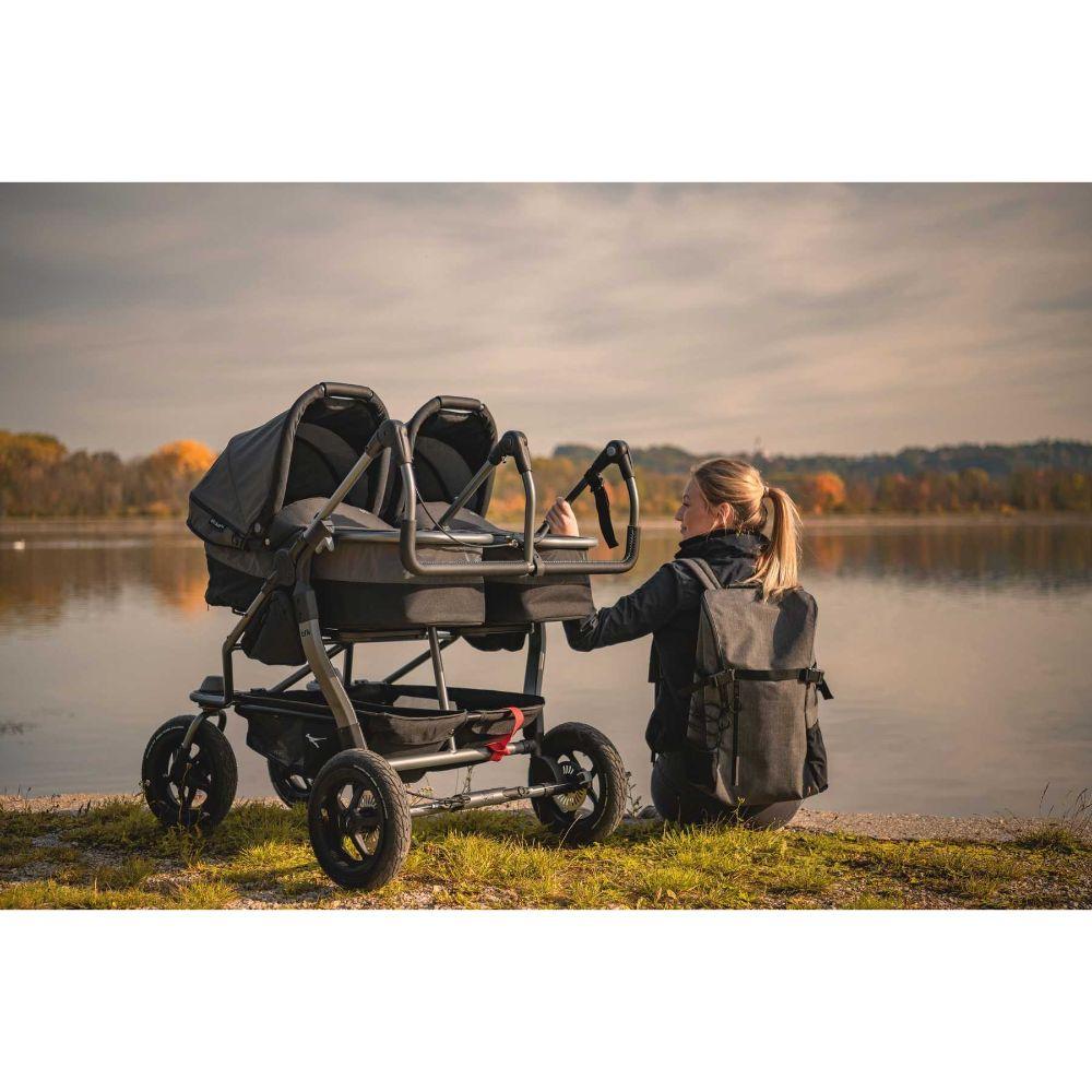 Gondola wraz z siedziskiem spacerowym do wózka TFK Duo Comfort, TFK Duo Sport kolor Szary Premium