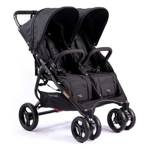 Wózek spacerowy dla dwójki dzieci Valco Baby Snap Duo o wadze 9,8 KG kolor Coal Black