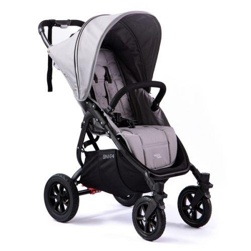 Wózek spacerowy Valco Baby Snap 4 Sport na pompowanych kołach, kolor Cool Grey