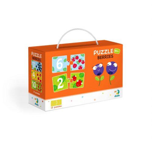 Puzzle dla dzieci 18m+ 12 elementów Duo Cyferki Jagódki