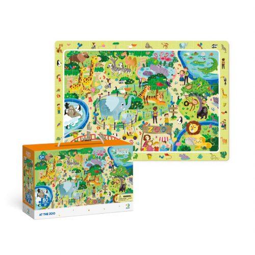 Puzzle dla dziecka 80el Obserwacyjne w ZOO