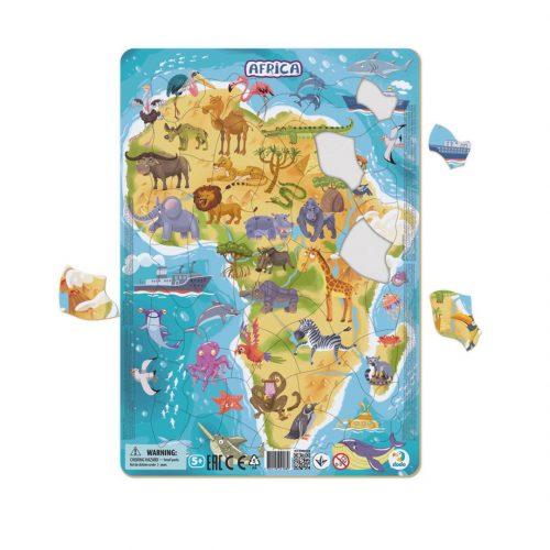 Puzzle dla dziecka 5+ ramkowe Afryka