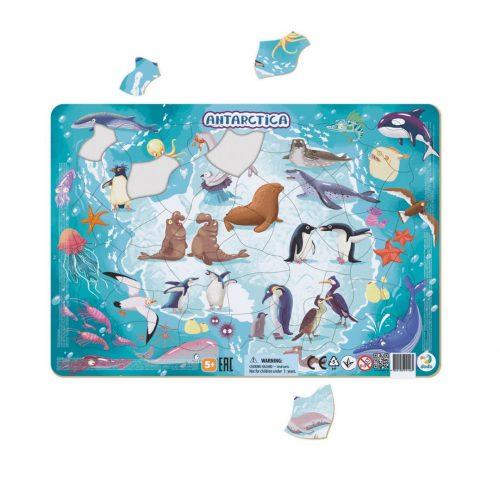 Puzzle dla dziecka 5+ ramkowe Antarktyda