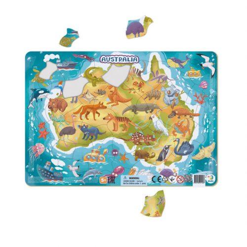Puzzle dla dziecka 5+ ramkowe Australia