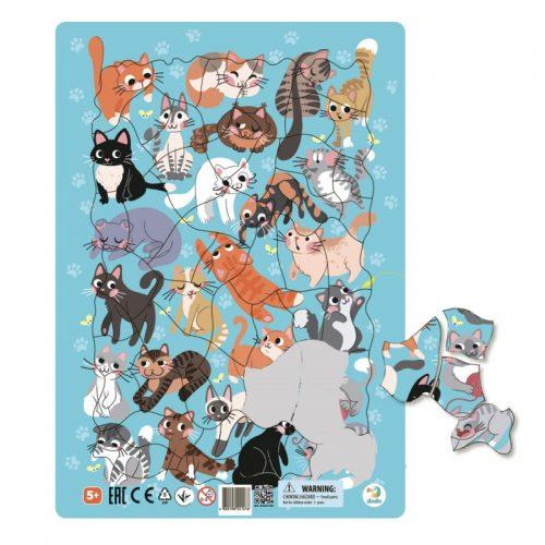 Puzzle dla dziecka 5+ ramkowe Koty