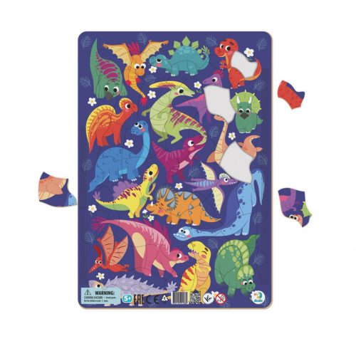 Puzzle dla dziecka 5+ ramkowe Dinozaury