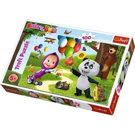 Trefl Puzzle 100el Masza i Niedźwiedź: Masza i przyjaciele