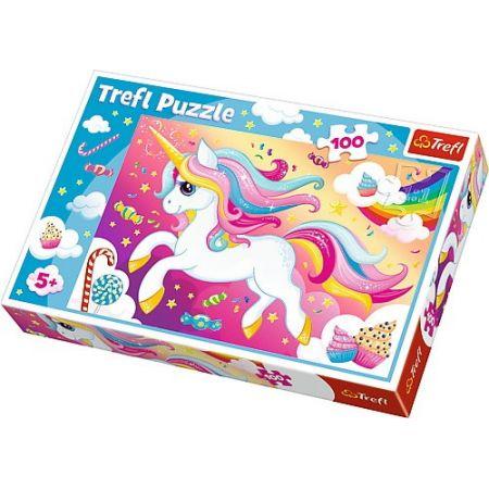 Trefl Puzzle 100el Piękny jednorożec