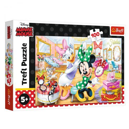 Trefl Puzzle 100el Minnie w salonie kosmetycznym