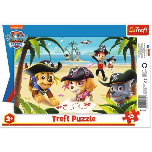 Trefl Puzzle ramkowe 15el. - Przyjaciele z Psiego Patrolu