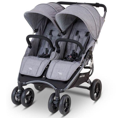 Bliźniaczy wózek spacerowy Valco Baby Snap Duo Sport Tailor Made kolor Charcoal