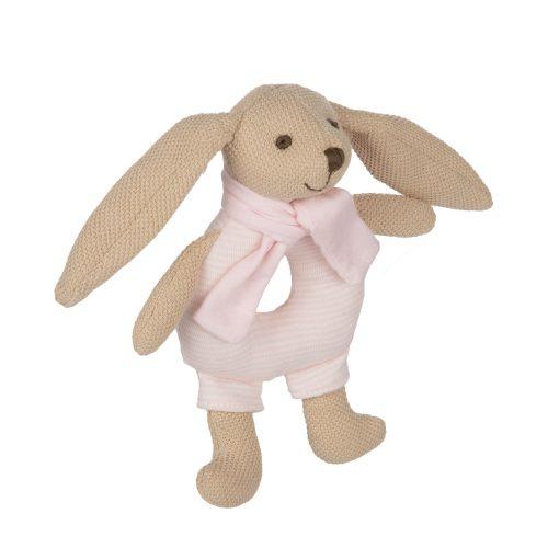 Pluszowa grzechotka  króliczek Canpol różowa