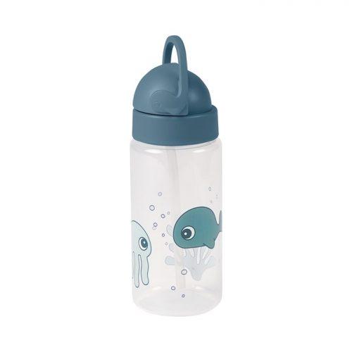 Done by deer sea bidon z rurką dla dziecka niebieski 12m+ 350ml