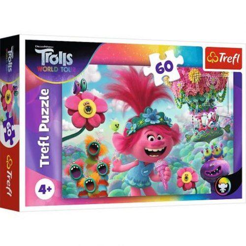 Trefl Puzzle 60el. W muzycznym świecie Trolli