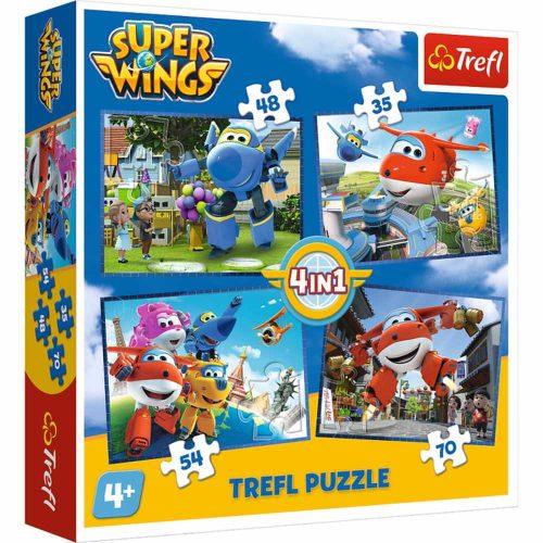 Trefl Puzzle 4w1 35 48 54 70 el.  Super Wings odlotowa paczka