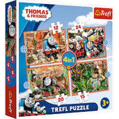 Trefl Puzzle 4w1 12 15 20 24 el. Tomek i przyjaciele Podróże po świecie