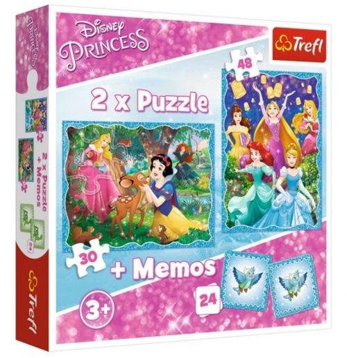Trefl Puzzle 2w1 30 48el. + memory Niezwykły świat księżniczek